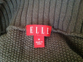 Brown Open Front Knit Collared Sweater by Elle Made in China Size Medium image 7