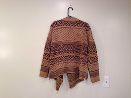 Brown Norwegian Style Long Sleeve Cardigan Sweater Wrap New in Package image 3