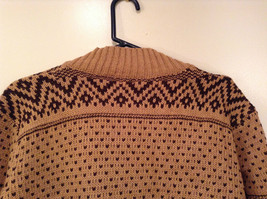 Brown Norwegian Style Long Sleeve Cardigan Sweater Wrap New in Package image 5
