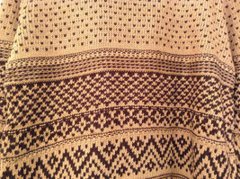 Brown Norwegian Style Long Sleeve Cardigan Sweater Wrap New in Package image 4