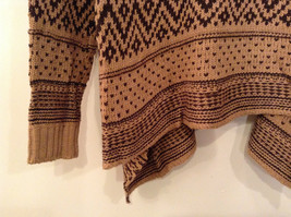 Brown Norwegian Style Long Sleeve Cardigan Sweater Wrap New in Package image 6