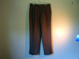 Brown Pleated Dress  Pants by Chaps No Size Tag Measurements Below image 2
