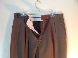 Brown Pleated Dress  Pants by Chaps No Size Tag Measurements Below image 3