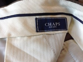 Brown Pleated Dress  Pants by Chaps No Size Tag Measurements Below image 5