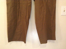 Brown Pleated Front Pants Elastic Inserts on Waist for Adjusting No Size Tag image 4