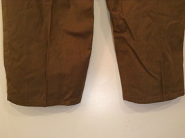 Brown Pleated Front Pants Elastic Inserts on Waist for Adjusting No Size Tag image 7
