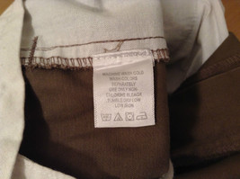 Brown Pleated Front Pants Elastic Inserts on Waist for Adjusting No Size Tag image 8