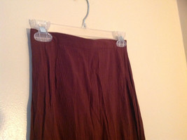 Brown Scrunched Style Maxi Skirt Cute Slit up Side of Front NY and Co Size S image 2
