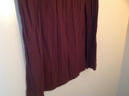 Brown Scrunched Style Maxi Skirt Cute Slit up Side of Front NY and Co Size S image 3