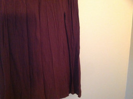 Brown Scrunched Style Maxi Skirt Cute Slit up Side of Front NY and Co Size S image 4