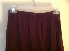Brown Scrunched Style Maxi Skirt Cute Slit up Side of Front NY and Co Size S image 6