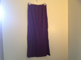 Brown Scrunched Style Maxi Skirt Cute Slit up Side of Front NY and Co Size S image 7