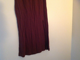 Brown Scrunched Style Maxi Skirt Cute Slit up Side of Front NY and Co Size S image 5