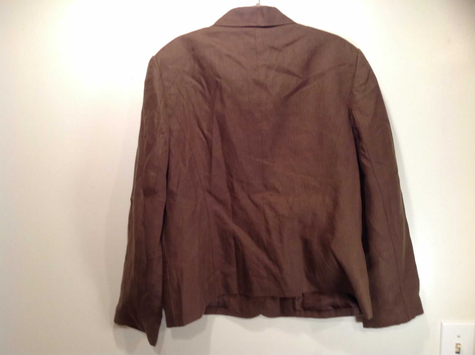 Brown Size 16 Talbots 100 Percent Linen Blazer Two Button Closure Two Pockets image 7