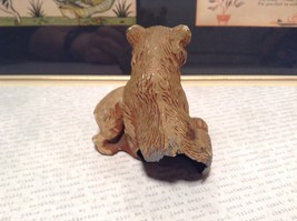Brown Tone Metal Hollow Vintage Mother Bear with Cub Statue Figurine image 5