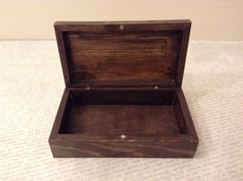Brown Wooden Trinket Box with Flower Design Small Rectangular Shape image 6