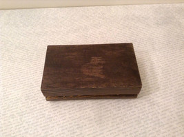 Brown Wooden Trinket Box with Flower Design Small Rectangular Shape image 9