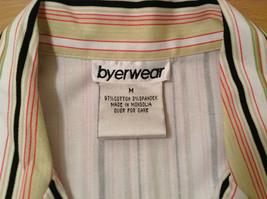 Byer wear Size M Green Light Green Black Red Beige Striped Light Blazer Jacket image 8