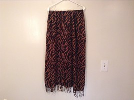 Brown and Black Zebra Print Scarf 100 Percent Acrylic image 3
