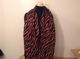 Brown and Black Zebra Print Scarf 100 Percent Acrylic image 2