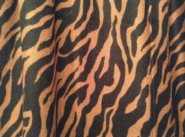 Brown and Black Zebra Print Scarf 100 Percent Acrylic image 4