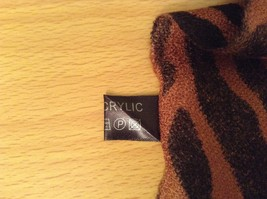 Brown and Black Zebra Print Scarf 100 Percent Acrylic image 6