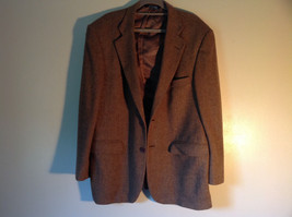 Brown Stafford Two Button Closure Wool Suit Jacket 2 Front Pockets image 2