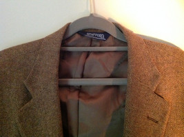 Brown Stafford Two Button Closure Wool Suit Jacket 2 Front Pockets image 3