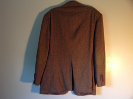 Brown Stafford Two Button Closure Wool Suit Jacket 2 Front Pockets image 6