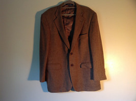 Brown Stafford Two Button Closure Wool Suit Jacket 2 Front Pockets image 4