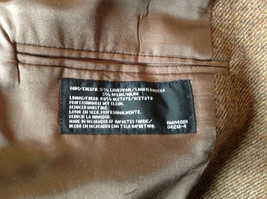 Brown Stafford Two Button Closure Wool Suit Jacket 2 Front Pockets image 8