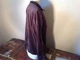 Brown Zip Up Hannah Sweatshirt  Size Medium soft fleece w matching bottoms image 4