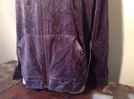 Brown Zip Up Hannah Sweatshirt  Size Medium soft fleece w matching bottoms image 3