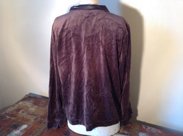 Brown Zip Up Hannah Sweatshirt  Size Medium soft fleece w matching bottoms image 5