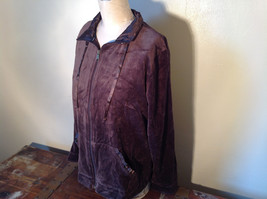 Brown Zip Up Hannah Sweatshirt  Size Medium soft fleece w matching bottoms image 6