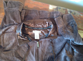 Brown Zip Up Hannah Sweatshirt  Size Medium soft fleece w matching bottoms image 7