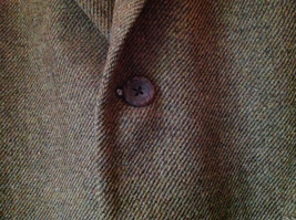Brown Stafford Two Button Closure Wool Suit Jacket 2 Front Pockets image 5