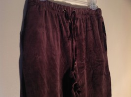 Brown Zip Up Hannah Sweatshirt  Size Medium soft fleece w matching bottoms image 11