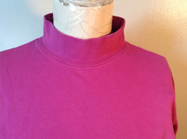 Cabin Creek Pink Long Sleeve Turtleneck 100 Percent Cotton Size Small image 2