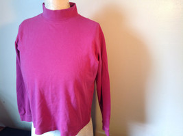 Cabin Creek Pink Long Sleeve Turtleneck 100 Percent Cotton Size Small image 5