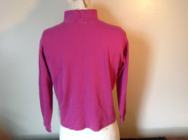 Cabin Creek Pink Long Sleeve Turtleneck 100 Percent Cotton Size Small image 6
