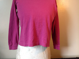 Cabin Creek Pink Long Sleeve Turtleneck 100 Percent Cotton Size Small image 3