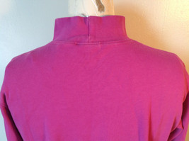 Cabin Creek Pink Long Sleeve Turtleneck 100 Percent Cotton Size Small image 7