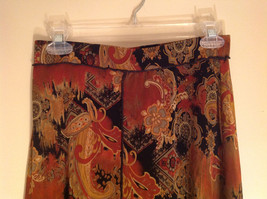 Brown Tan Black Paisley Design Skirt Coldwater Creek Made In Mexico Size PS image 2