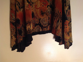Brown Tan Black Paisley Design Skirt Coldwater Creek Made In Mexico Size PS image 4