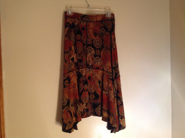 Brown Tan Black Paisley Design Skirt Coldwater Creek Made In Mexico Size PS image 6