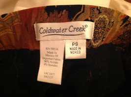 Brown Tan Black Paisley Design Skirt Coldwater Creek Made In Mexico Size PS image 8