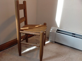 Brown Straight Leg Wooden Doll Chairs  Measurements in Description image 2