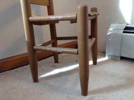 Brown Straight Leg Wooden Doll Chairs  Measurements in Description image 3