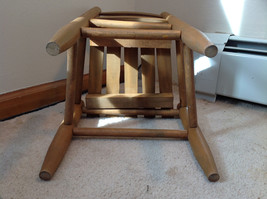 Brown Straight Leg Wooden Doll Chairs  Measurements in Description image 6